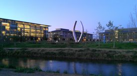 View of UC Merced at night.