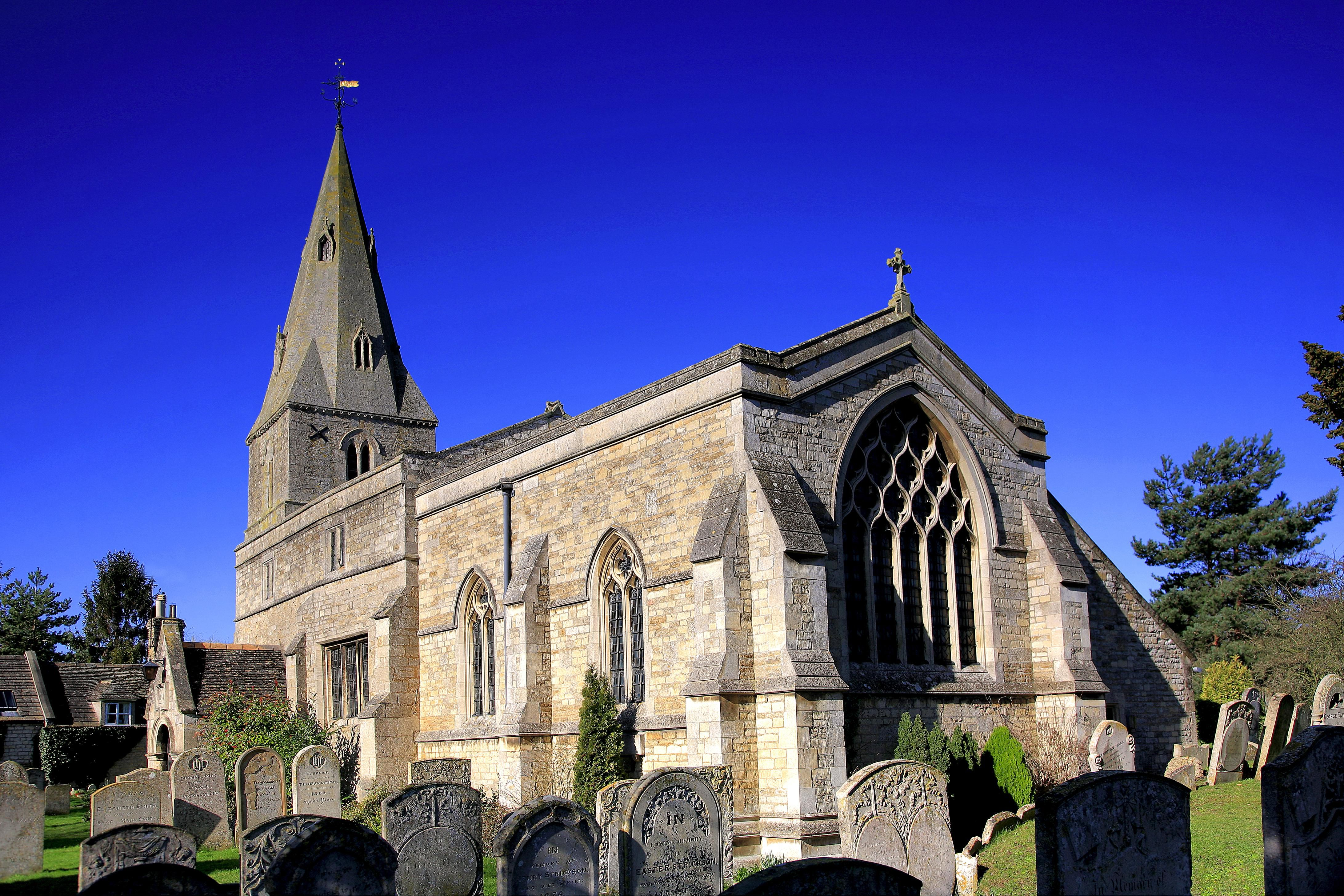 The parish church of St. Mary the Virgin dating back to the 11th Century, at Wansford village in Cambridgeshire.