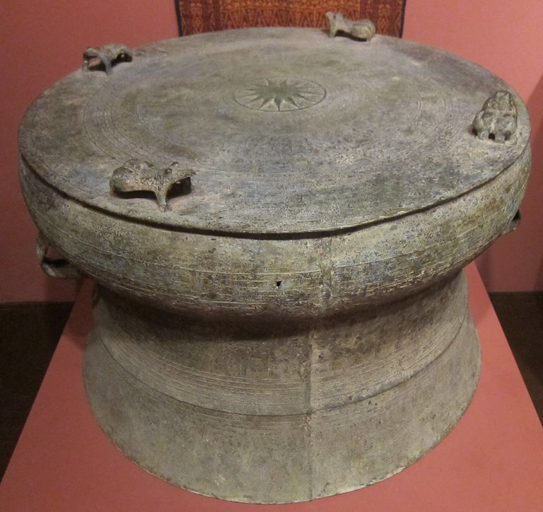 Dongson Drum, 4th century CE, bronze, Honolulu Museum of Art