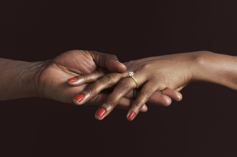 black couple's hands