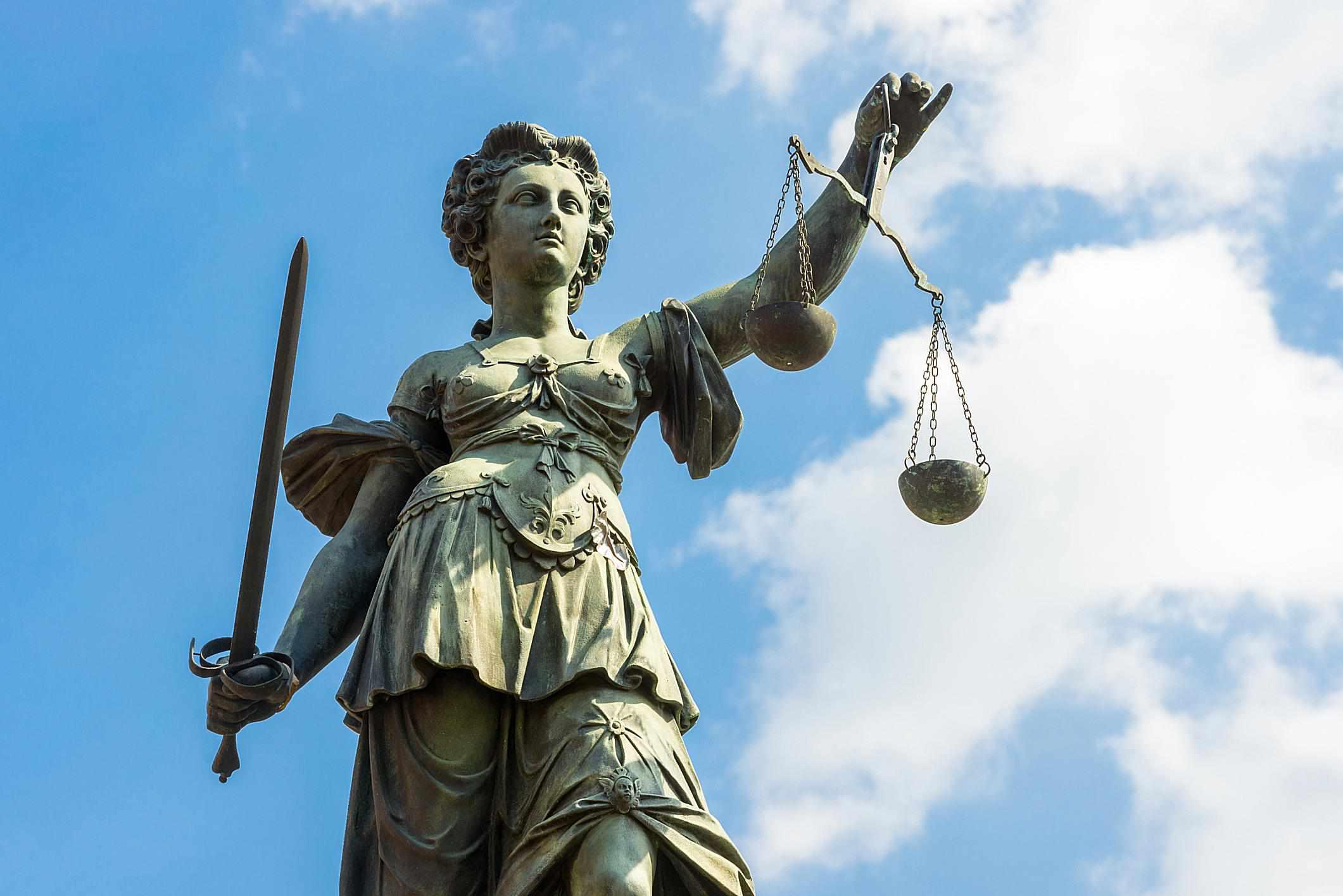 Estatua representando a la Justicia
