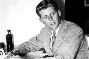 Young JFK at college