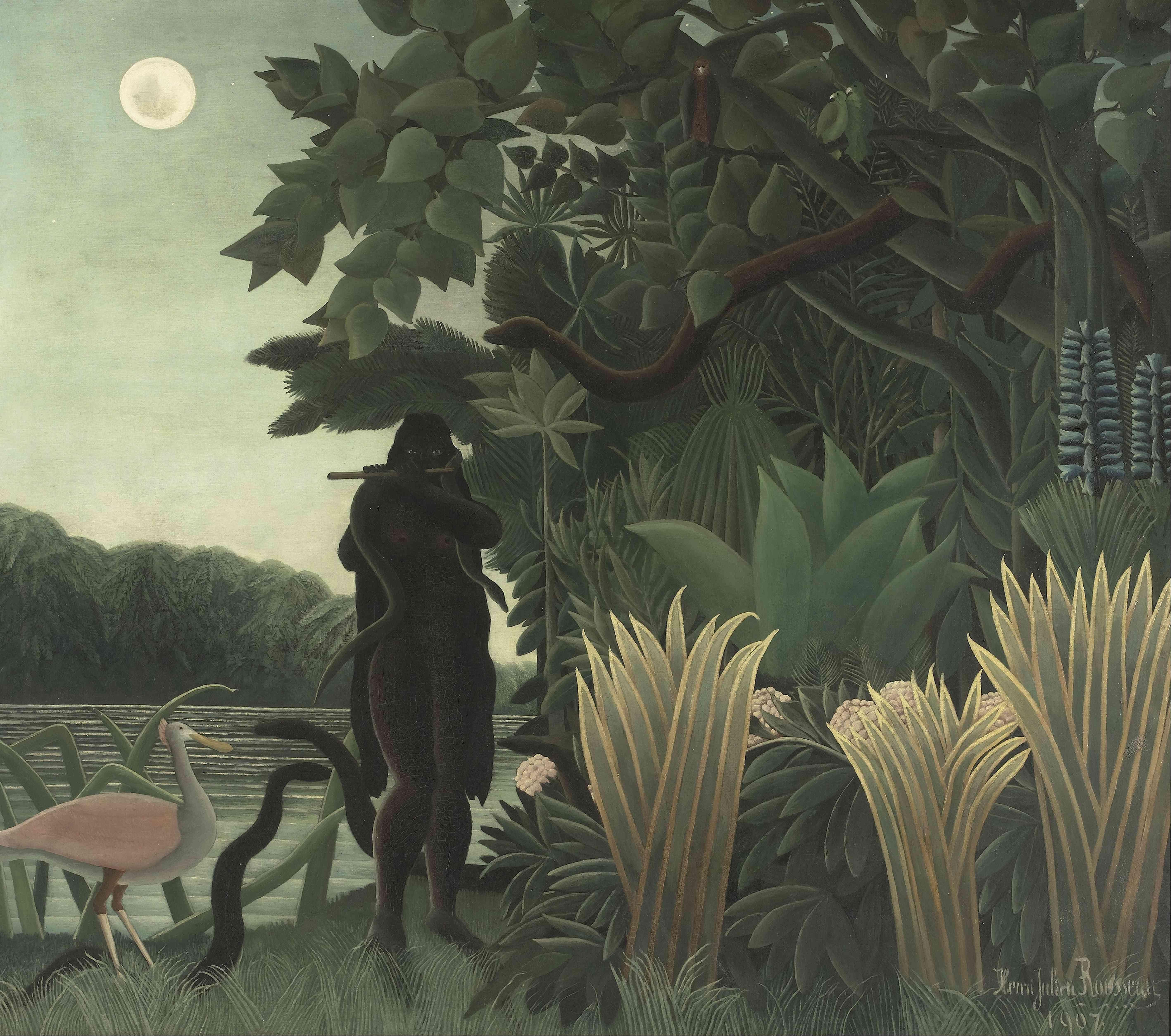 Rousseau's The Snake Charmer