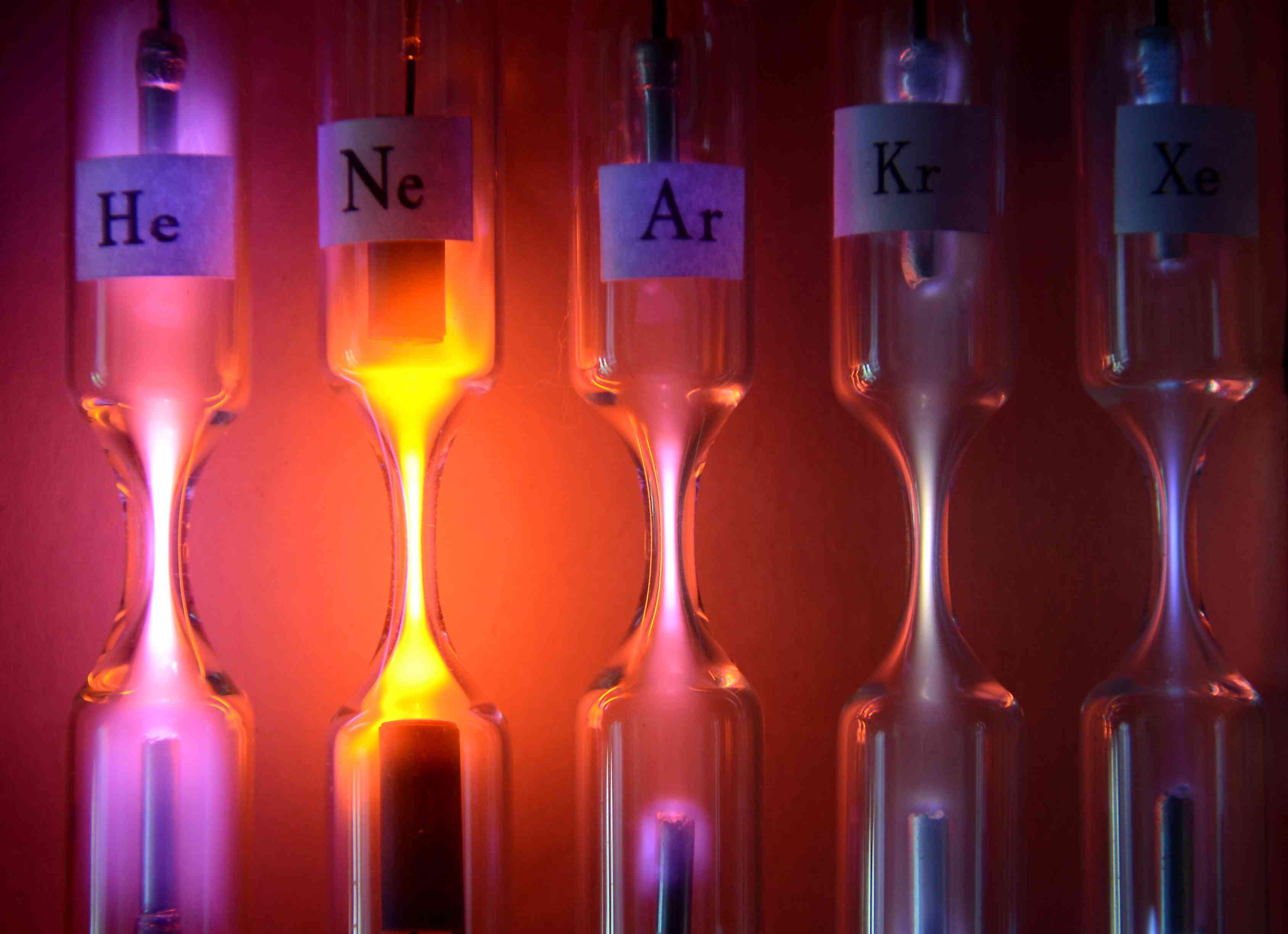 Ionized noble gases
