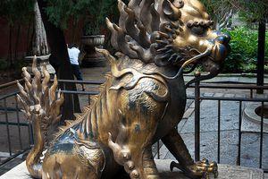 A qilin, or Chinese unicorn