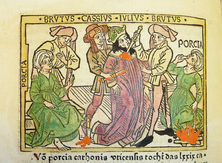 Woodcut illustration of the Ides of March