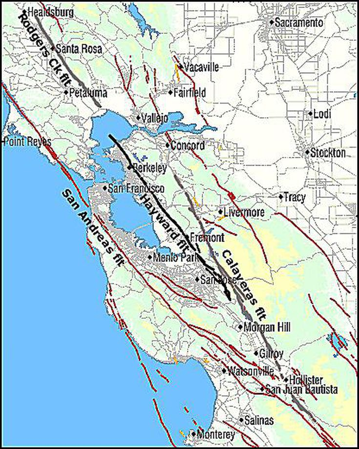About the Hayward Fault of California