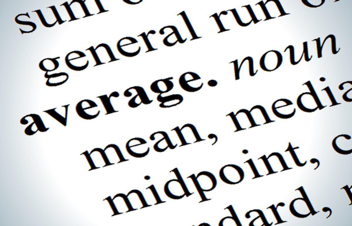 Definition of 'average'