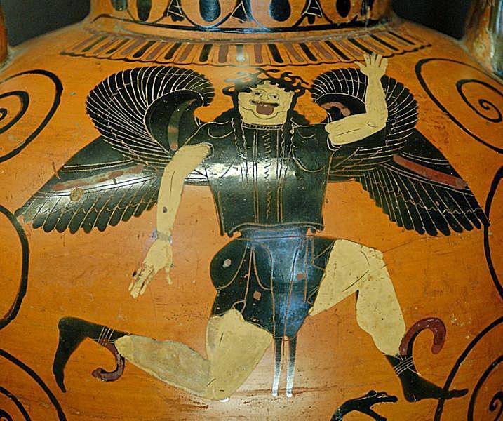 Gorgon from a 6th Century B.C. Black-figure amphora.
