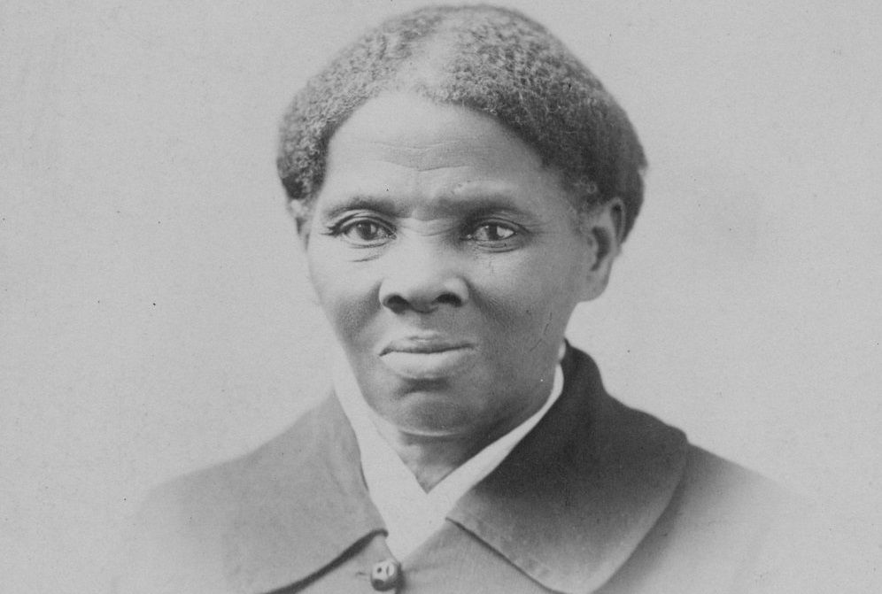 Black and white photograph of Harriet Tubman.