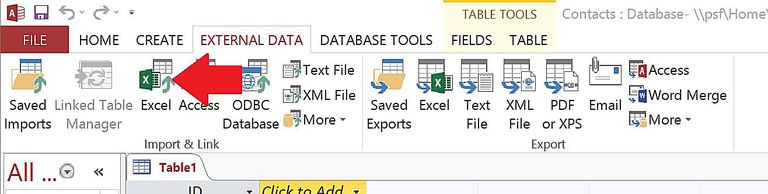 Converting An Excel Spreadsheet to Access 2013 Database