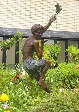 Peter Pan statue at Great Ormond Street Hospital, London