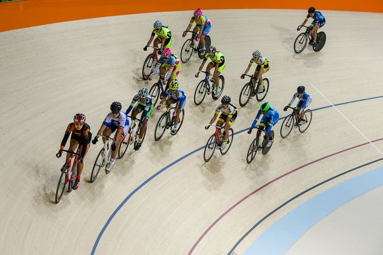 Olympic Velodrome in Barra Olympic Park tested the track