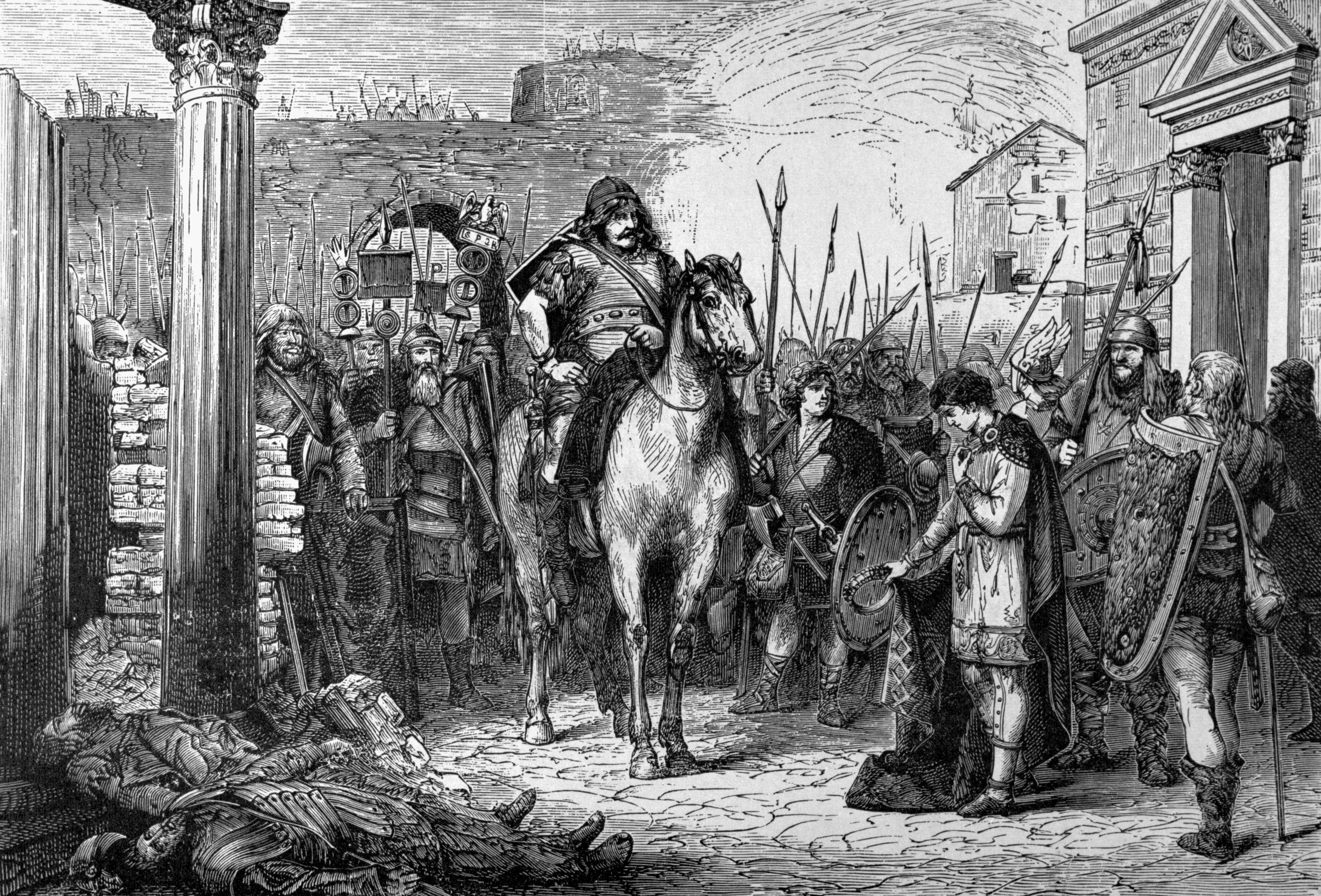 Romulus Augustulus Surrenders To Odoacer