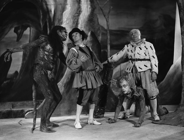 Caliban, Ariel, Stephano and Trinculo in The Tempest