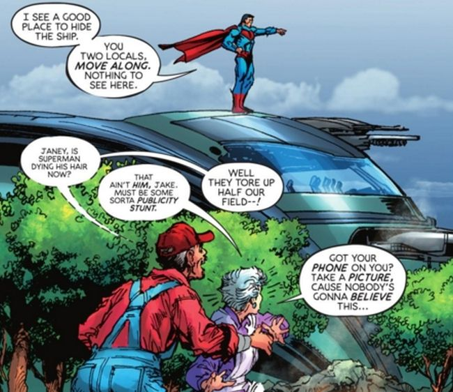 """Comic panel from """"Superman: Coming of the Supermen"""" #1"""