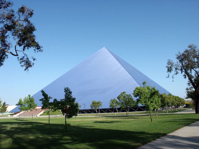 The Walter Pyramid Is A Collegiate Athletic Facility Located At Long Beach State University In