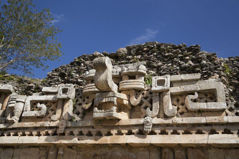 Chac Mask (Rain God), The Palace, Labna, Mayan Ruins