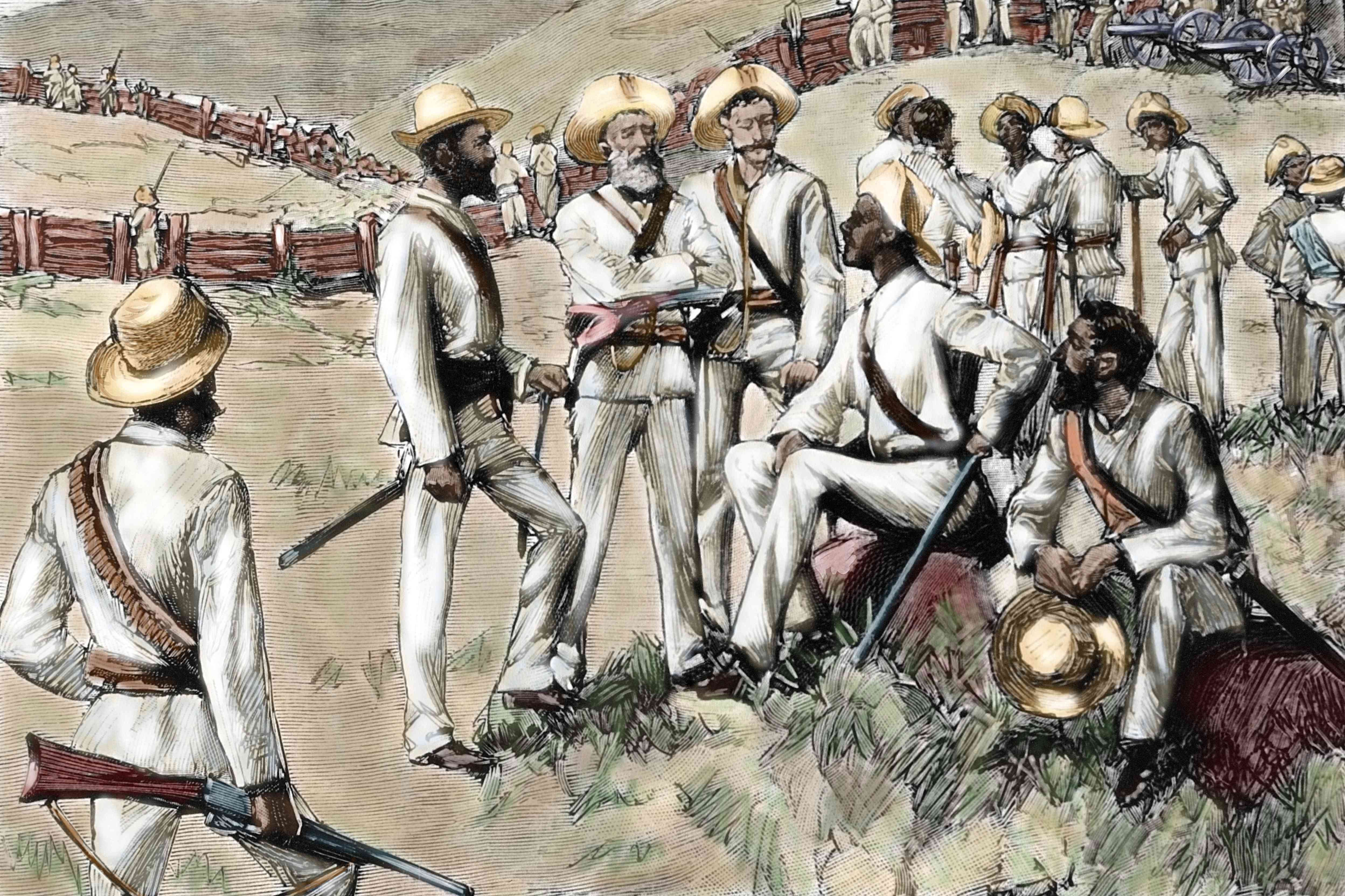 Cuban rebels in the War of Independence
