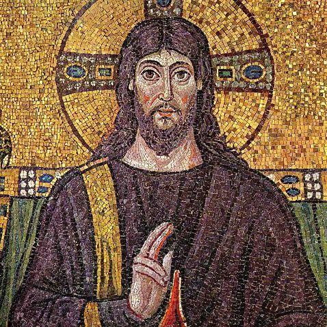 Jesus - 6th-century mosaic in Ravenna, Italy
