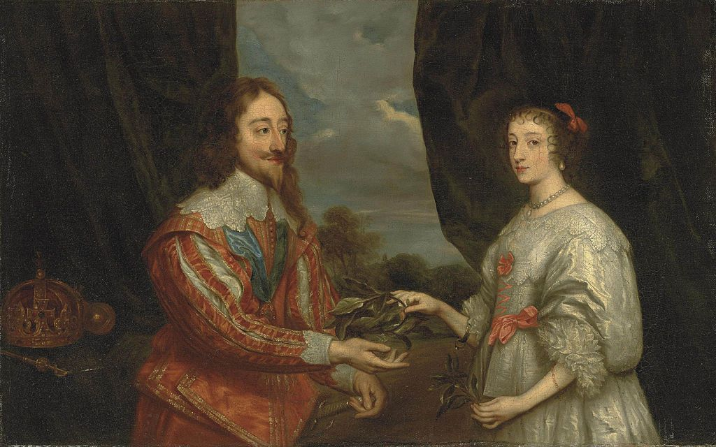 Double portrait of King Charles I and Queen Henrietta Maria