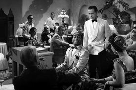 Humphrey Bogart and Dooley Wilson on the set of