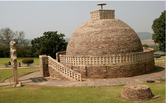 3rd Century BC Sanchi Stupa in Madhya Pradesh, India