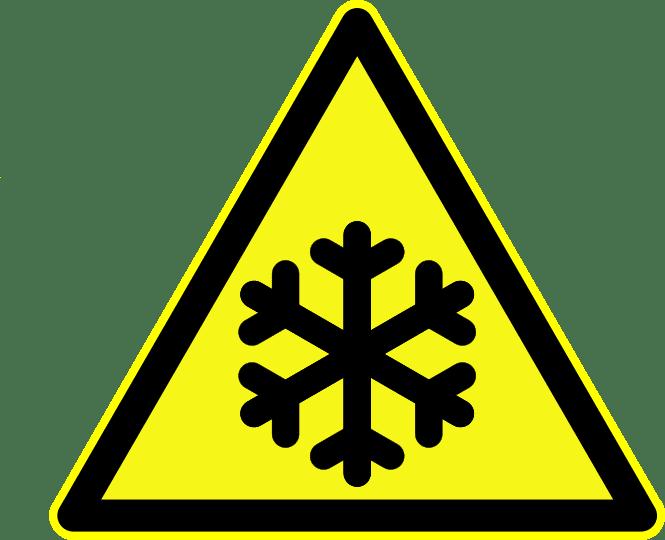 Lab safety signage, cryogenic hazard