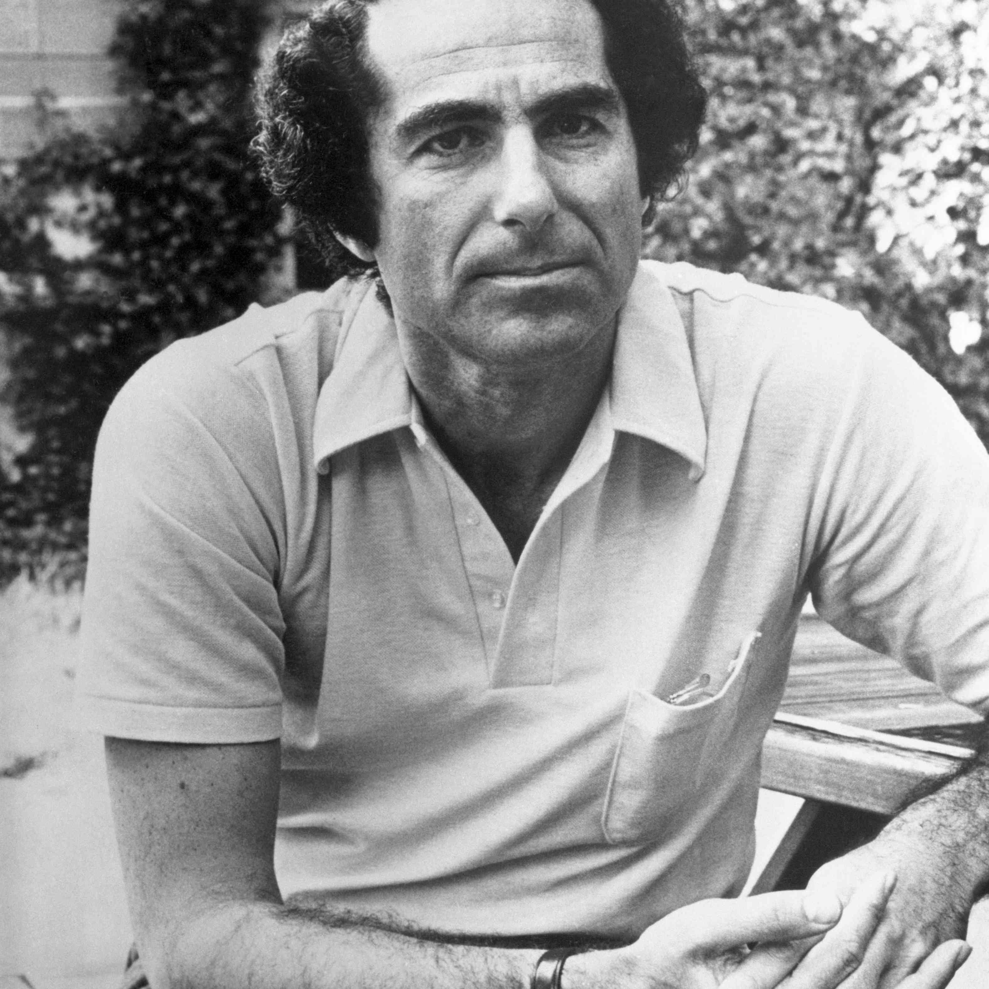 Author Philip Roth in the Park
