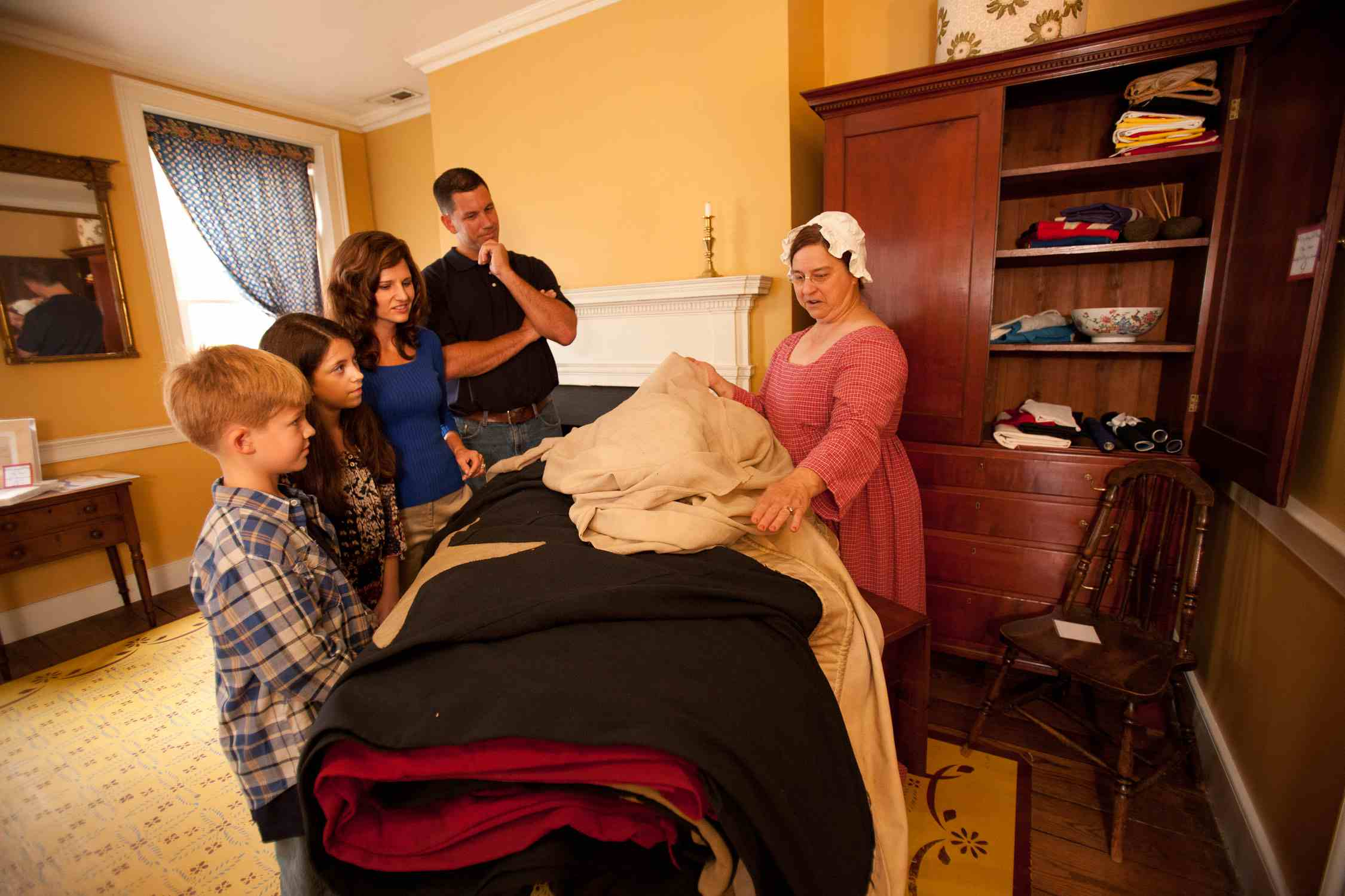 At Baltimore's Flag House Museum, a curator reenacts the role of Mary Pickersgill.