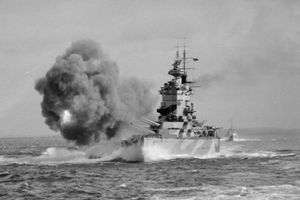 HMS Nelson at sea.
