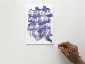 Iodine solution revealing an invisible ink message