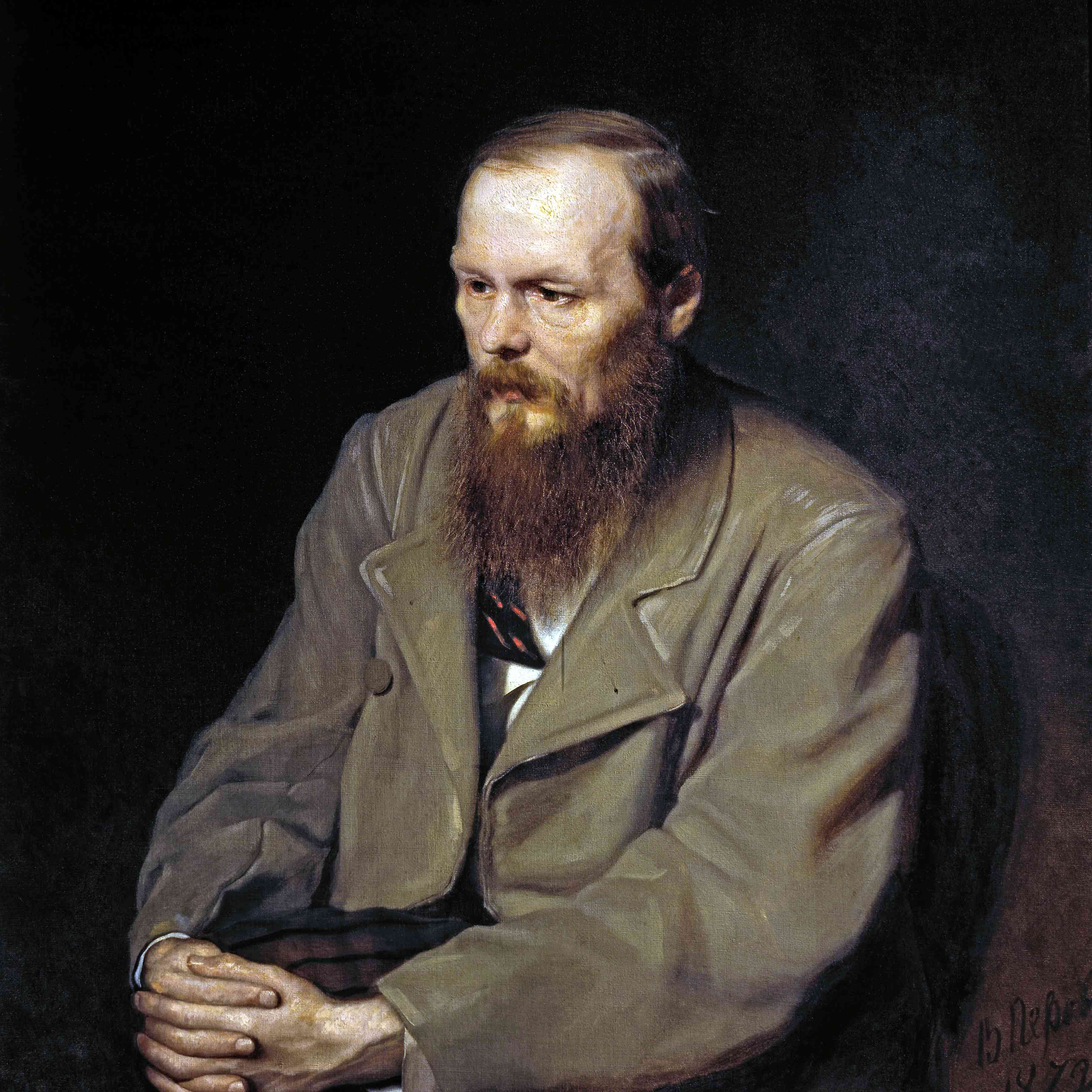Oil color painting of Dostoevsky