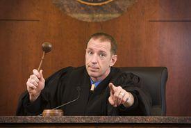 judge holding up gavel