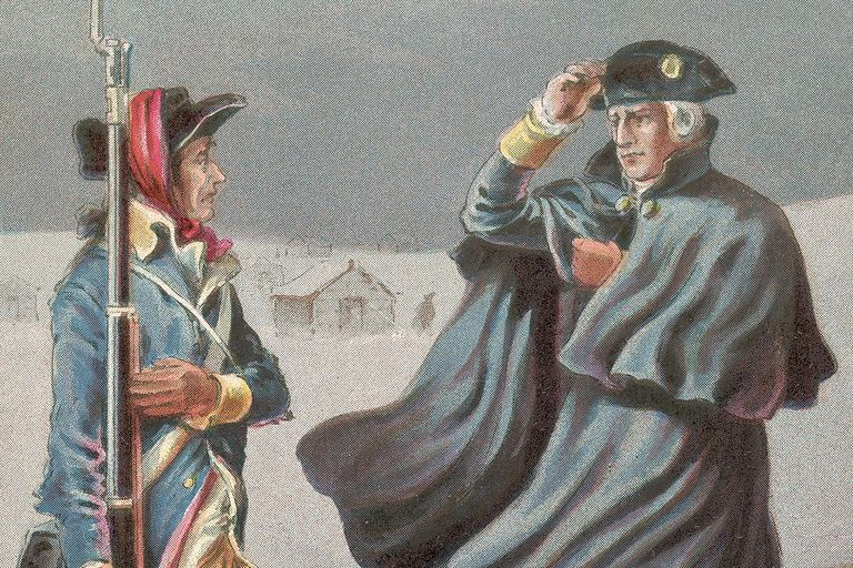 Washington at Battle of Valley Forge 1777