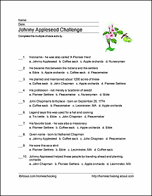 Johnny Appleseed Challenge