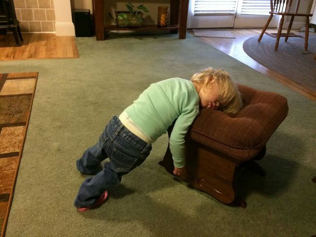 Funny Pictures Of People Sleeping In Weird Places