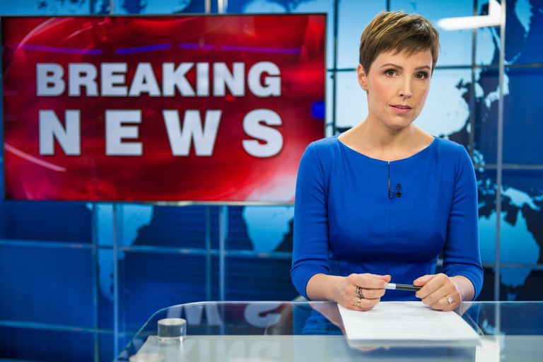 A news reporter