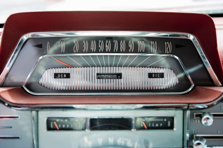 Speedometer on a classic car
