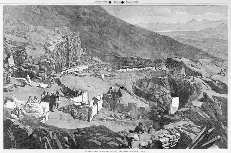 Dr. Heinrich Schliemann's Excavations in the Acropolis of Mycenae