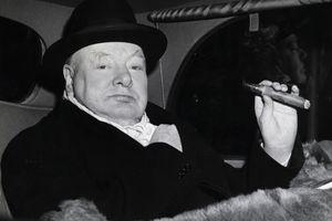 Winston Churchill in Evening Dress with Cigar, 1951