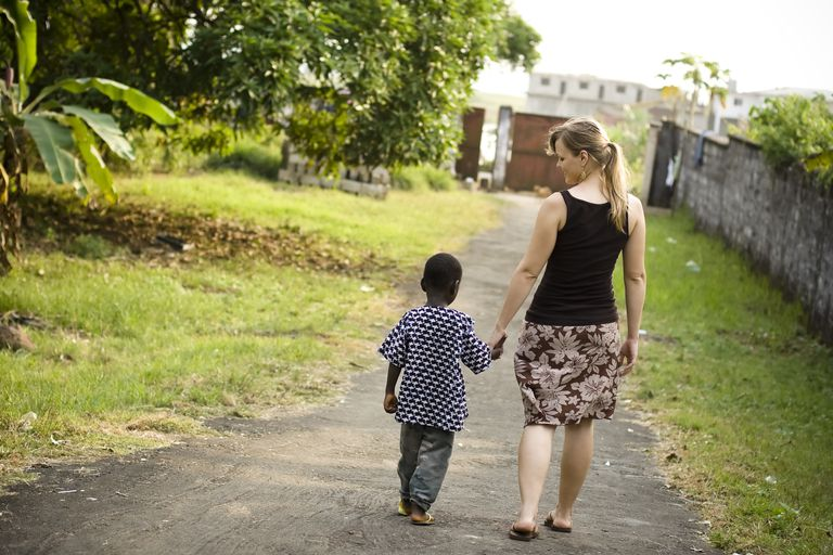 Missionary with child