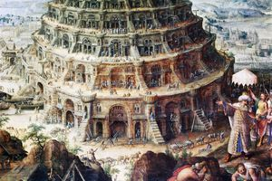 A painting of the tower of babel
