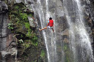 rappelling in Nicaragua
