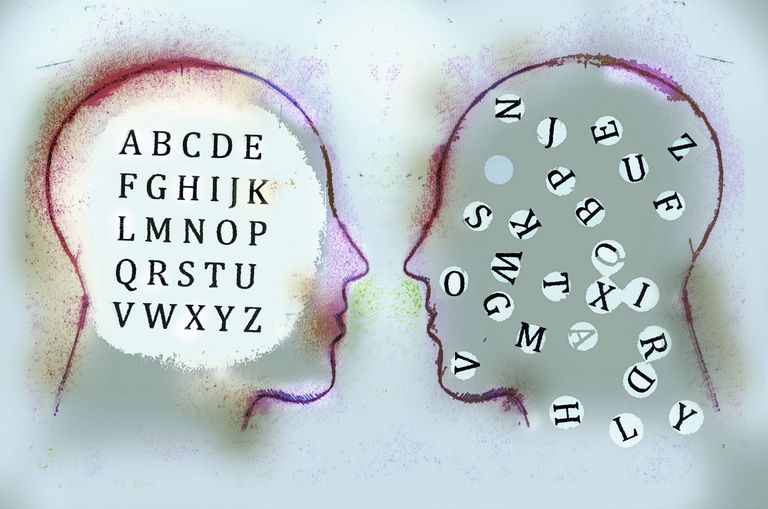 Alphabets and head outlines