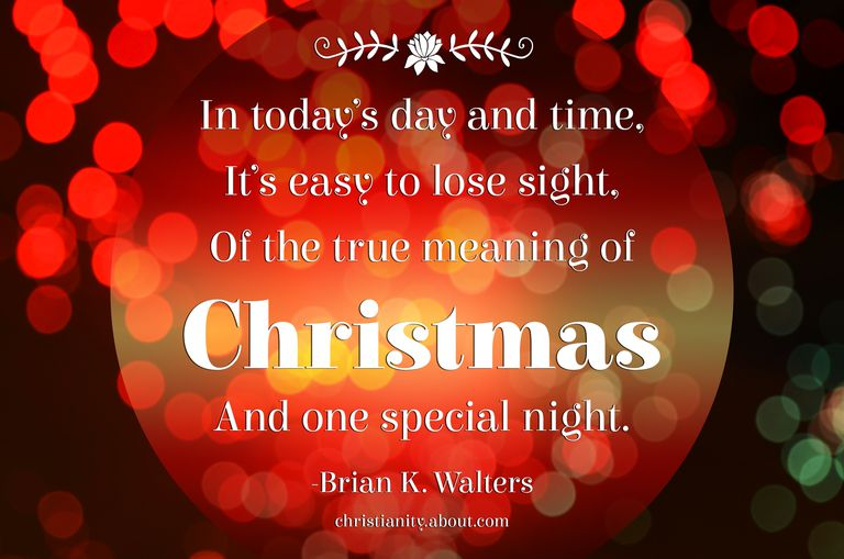 poems about the true meaning of christmas - True Meaning Of Christmas