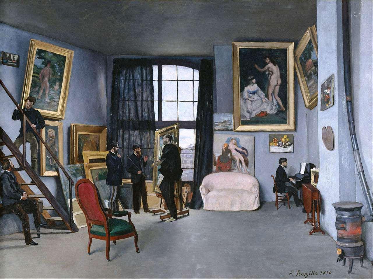 Bazille's Studio, Frédéric Bazille, 1870