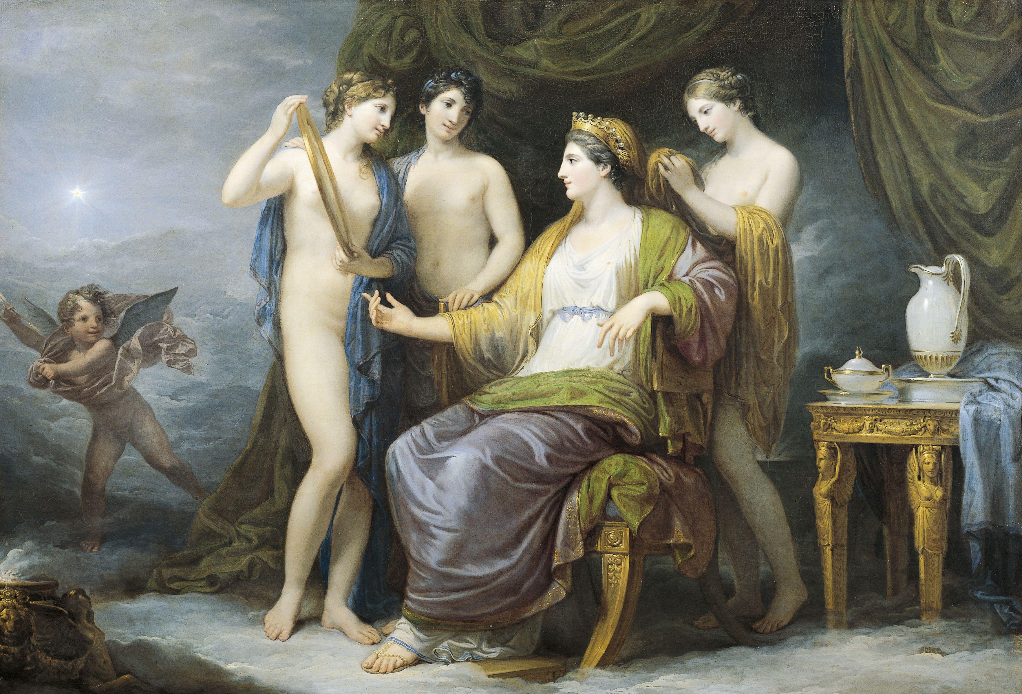 Juno Baden oder Juno von Graces, von Andrea Appiani (1754-1817), Öl auf Leinwand, 100x142 cm