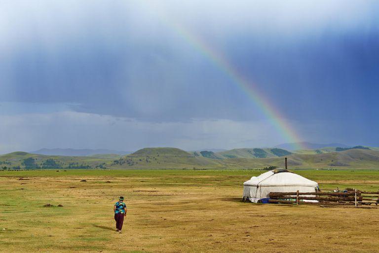 Mongolia, Ovorkhangai, Okhon valley, Nomad camp