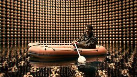 Neil deGrasse Tyson searching for neutrinos in Episode 6 of Cosmos.